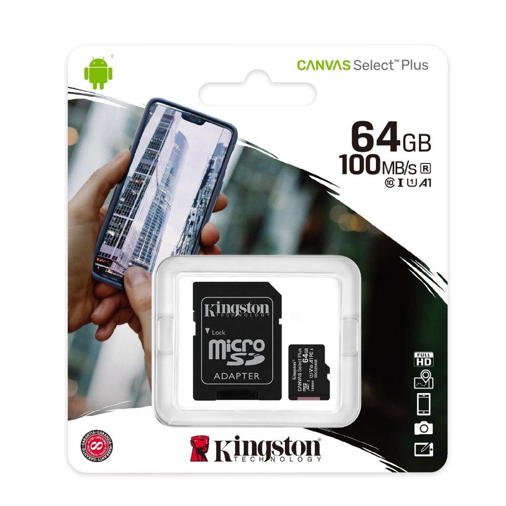 金士頓 KINGSTON SDCS2 MicroSDXC 100MB 64G U1 A1 記憶卡