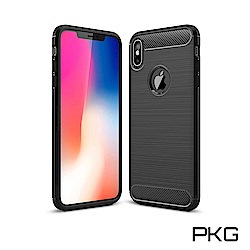 PKG Apple iPhone XR 手機殼-時尚碳纖紋路+抗指紋