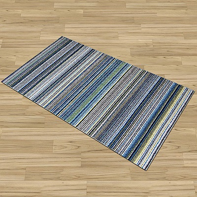 Ambience-比利時Nomad床邊/走道地毯 -馬雅(藍)(67x130cm)