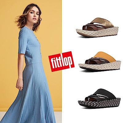 [時時樂] FitFlop ASYA TOE-THONGS 異材質造型夾腳涼鞋(共三色)
