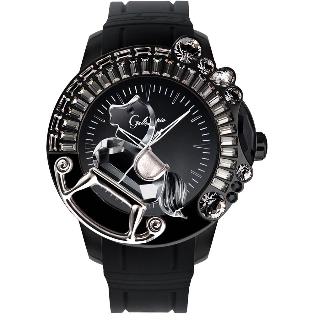 Galtiscopio迦堤 童真木馬系列 創作夢幻手錶-黑/50mm