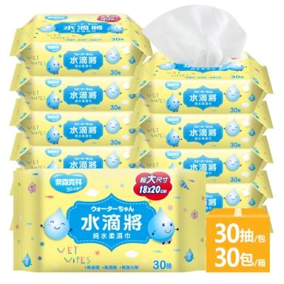 奈森克林 水滴將純水柔濕巾30抽x3包x10組(共30包)
