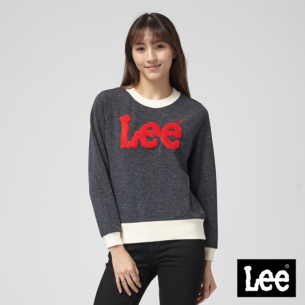 Lee 繡花LOGO厚TEE/丈青色