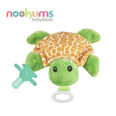 美國 nookums 寶寶可愛造型搖鈴安撫奶嘴/玩偶-小漫龜