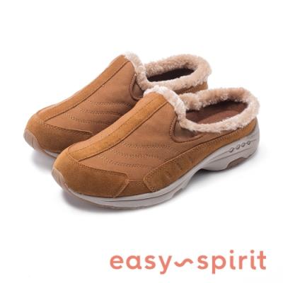 Easy Spirit-seTRAVELFUZZ 絕佳毛感舒適時尚運動休閒鞋-絨咖啡
