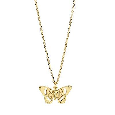 Orelia英國品牌 立體蝴蝶造型金色項鍊