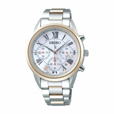 SEIKO LUKIA優雅甜美太陽能腕錶V175-0EX0GS/SSC820J1