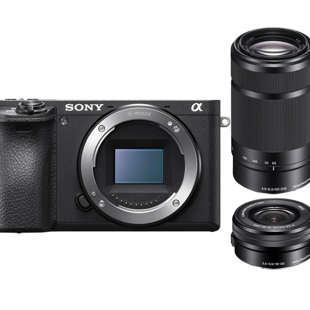 【快】SONY A6500+16-50mm+55-210mm 雙鏡組*(中文平輸)