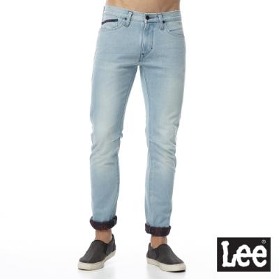 Lee 牛仔褲 709 低腰合身小直筒 男 淺藍 加厚保暖褲