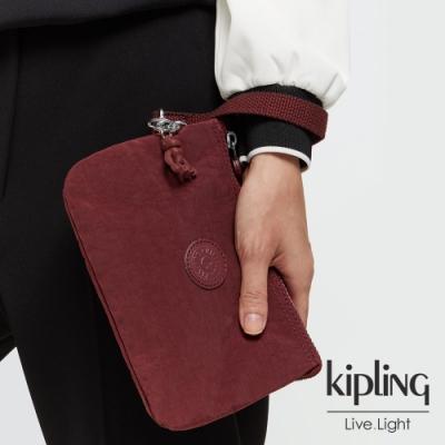 Kipling 迷人微醺紅多層配件包-CREATIVITY XL