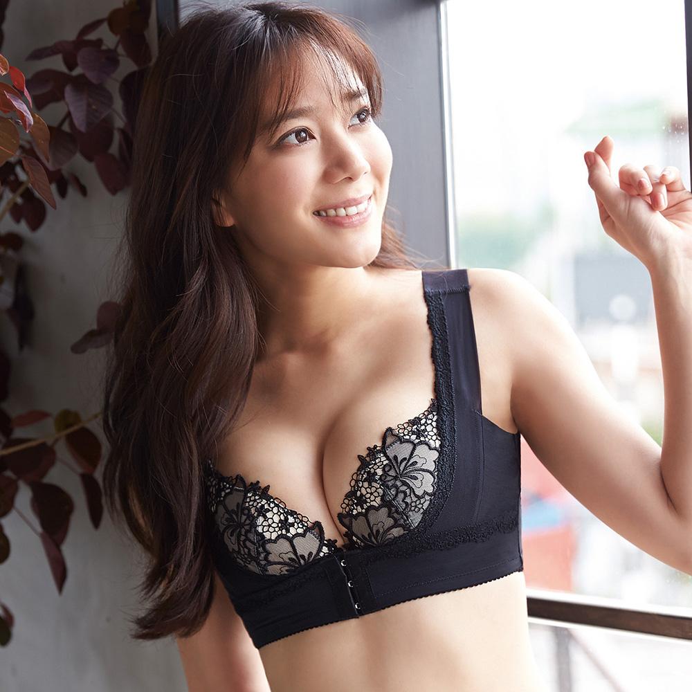 蕾黛絲-美胸U型短束衣 M-EEL 黑