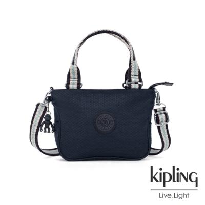 Kipling 城市丹寧藍隨身大容量手提斜背包-EMMALEE S