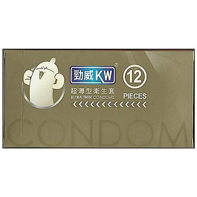 勁威衛生套 超薄型 12入x2盒 保險套