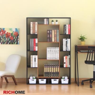 【RICHOME】里昂現代雙面隔間置物櫃 100.5x29.5x150CM