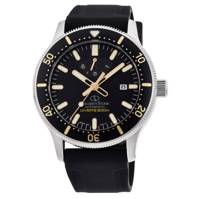 ORIENT 東方錶 東方之星潛水機械手錶RE-AU0303B -黑/43.6mm