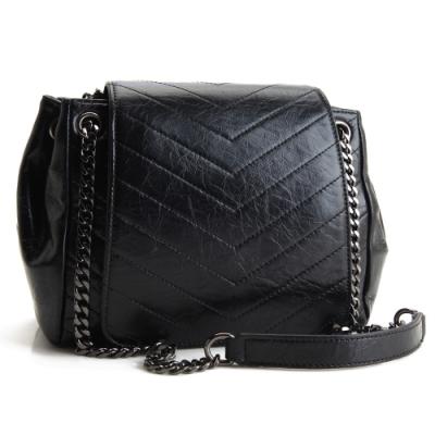 MOROM 真皮奢華美感造型三用包(黑色)