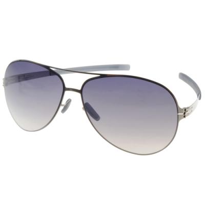 ic!berlin 太陽眼鏡 薄鋼雙桿飛官款/銀 #RAF S. CHROME