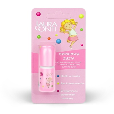 LauraConti 諾拉康緹萌寶貝果香護唇膏- ZUZIA水果口香糖口味寶寶專用唇膏