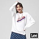 Lee RIDERS長袖帽TEE/101+-寬鬆版-白