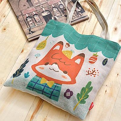 義大利Fancy Belle X LaLaWoodland 幸福的果實 麻織購物袋