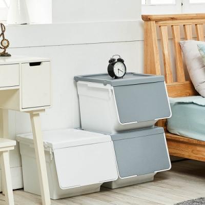 完美主義 極簡推式防塵收納箱/收納櫃/玩具櫃/韓國SHABATH-3入(3色)