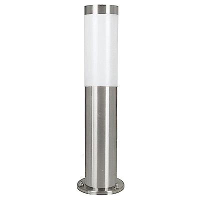 EGLO歐風燈飾 現代銀圓柱造型小戶外燈/景觀柱燈(不含燈泡)