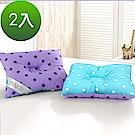 三浦太郎 頂級天絲雙色點點兒童人體工學保護枕2入
