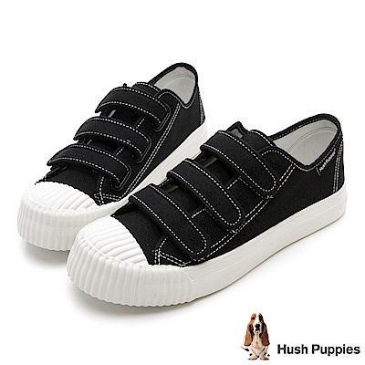 Hush Puppies 復古魔鬼氈餅乾鞋-黑色