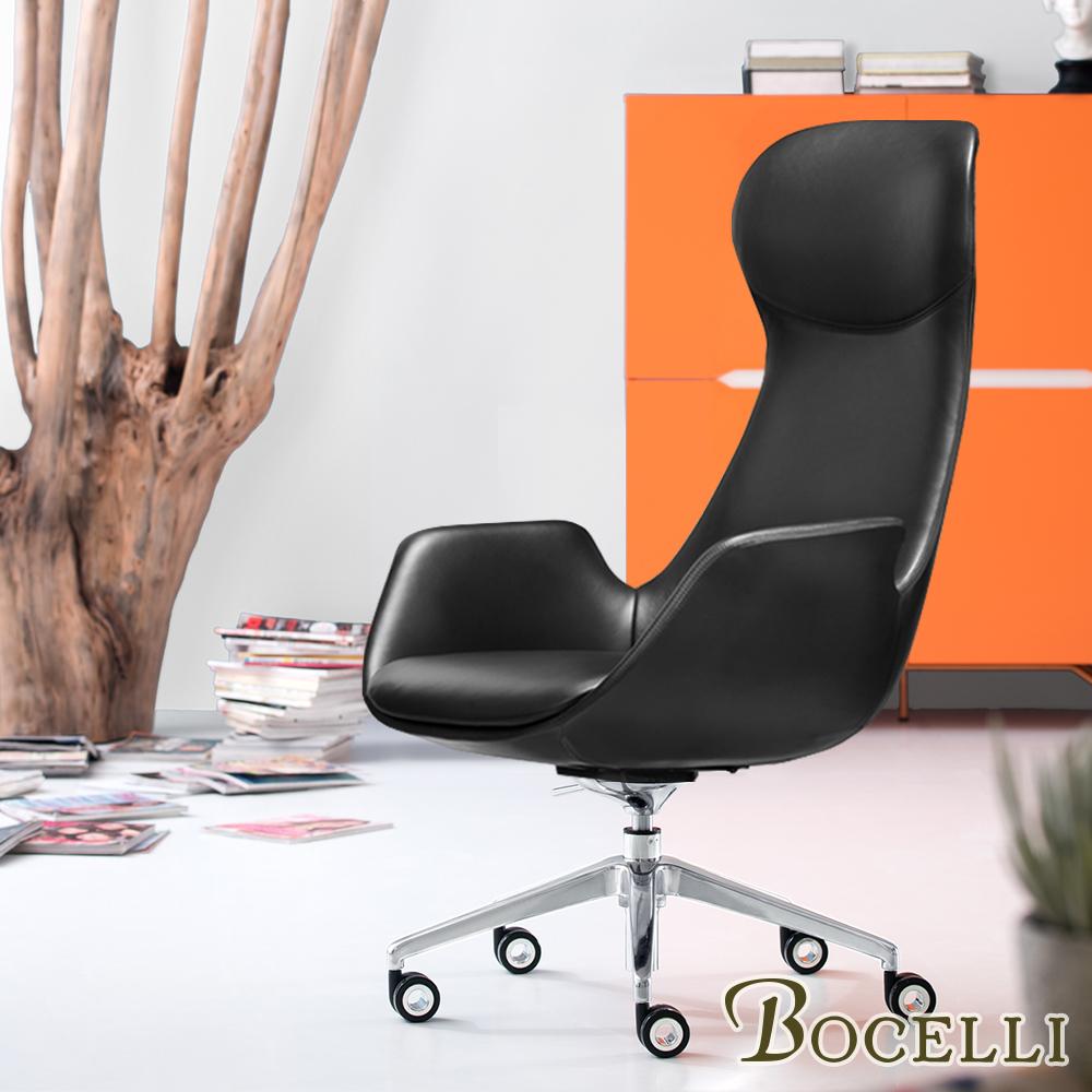 BOCELLI-SOGNARE夢想高背辦公椅(義大利牛皮)經典黑