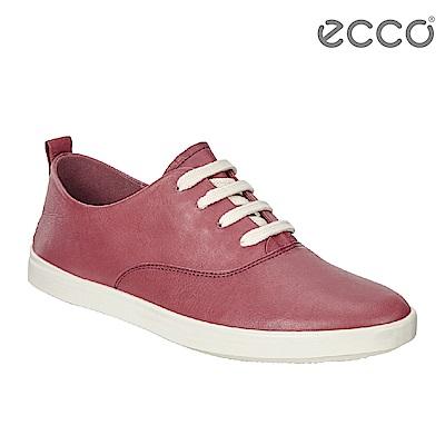 ECCO LEISURE超柔軟牛皮透氣休閒鞋 女-紅