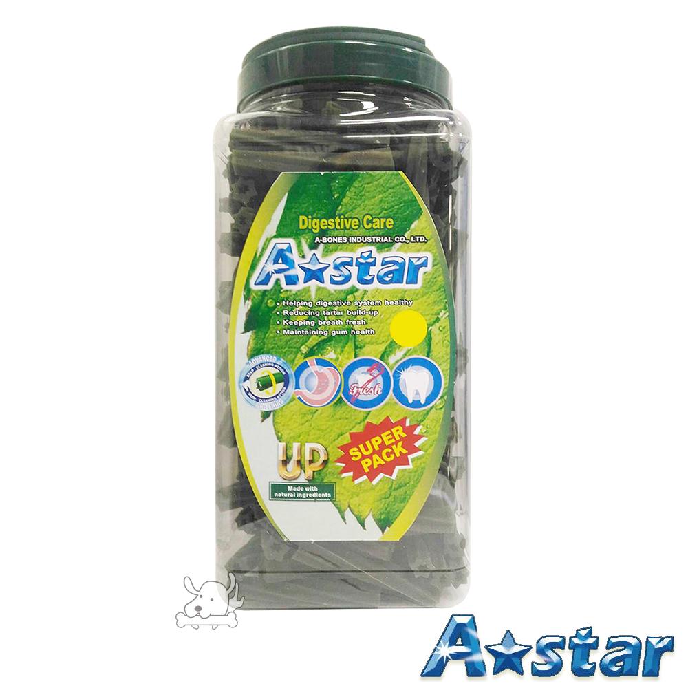 A Star Bones 健胃整腸 空心六星棒潔牙骨 超大桶裝 2000g X 1罐
