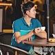 【ATUNAS 歐都納】男款POLARTEC短袖POLO衫A-P1910M天藍/藍 product thumbnail 1