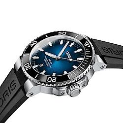 Oris豪利時 Clipperton 克利珀頓島 限量機械錶-藍x黑/43.5mm