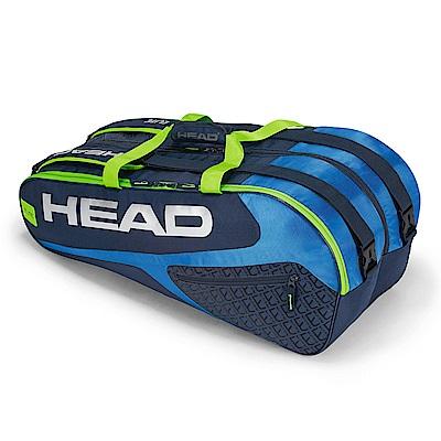 HEAD Elite Supercombi 9支裝球拍袋-藍綠 283729