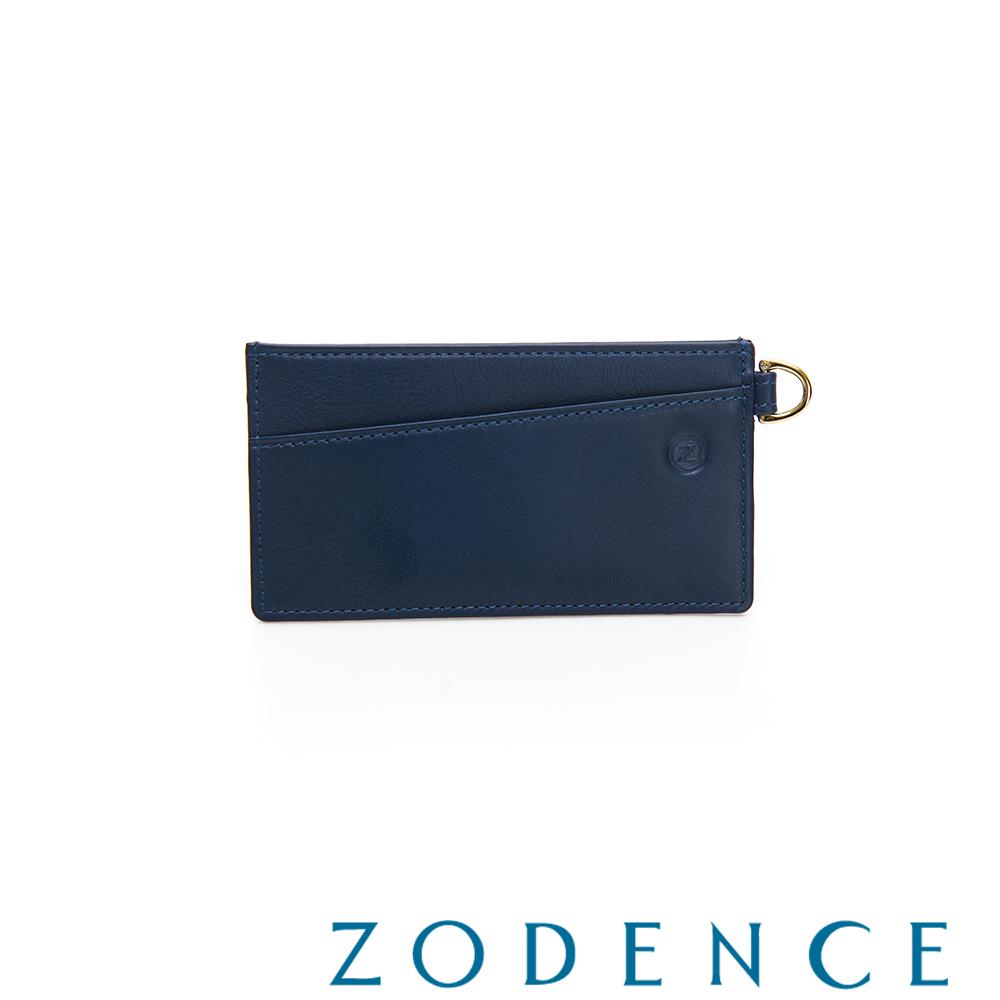 ZODENCE COMBO系列進口牛皮卡片夾 藍色