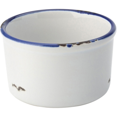 《Utopia》復古石陶布丁烤杯(藍9cm)