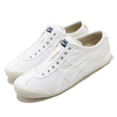 Onitsuka Tiger 休閒鞋 Mexico 66 Slip-On 男女鞋 OT 鬼塚虎 無鞋帶 白鞋 情侶穿搭 白 米 D528N0101
