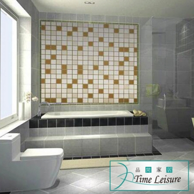 Time Leisure 廚房/衛浴自黏式防水防油污耐高溫壁貼 2入