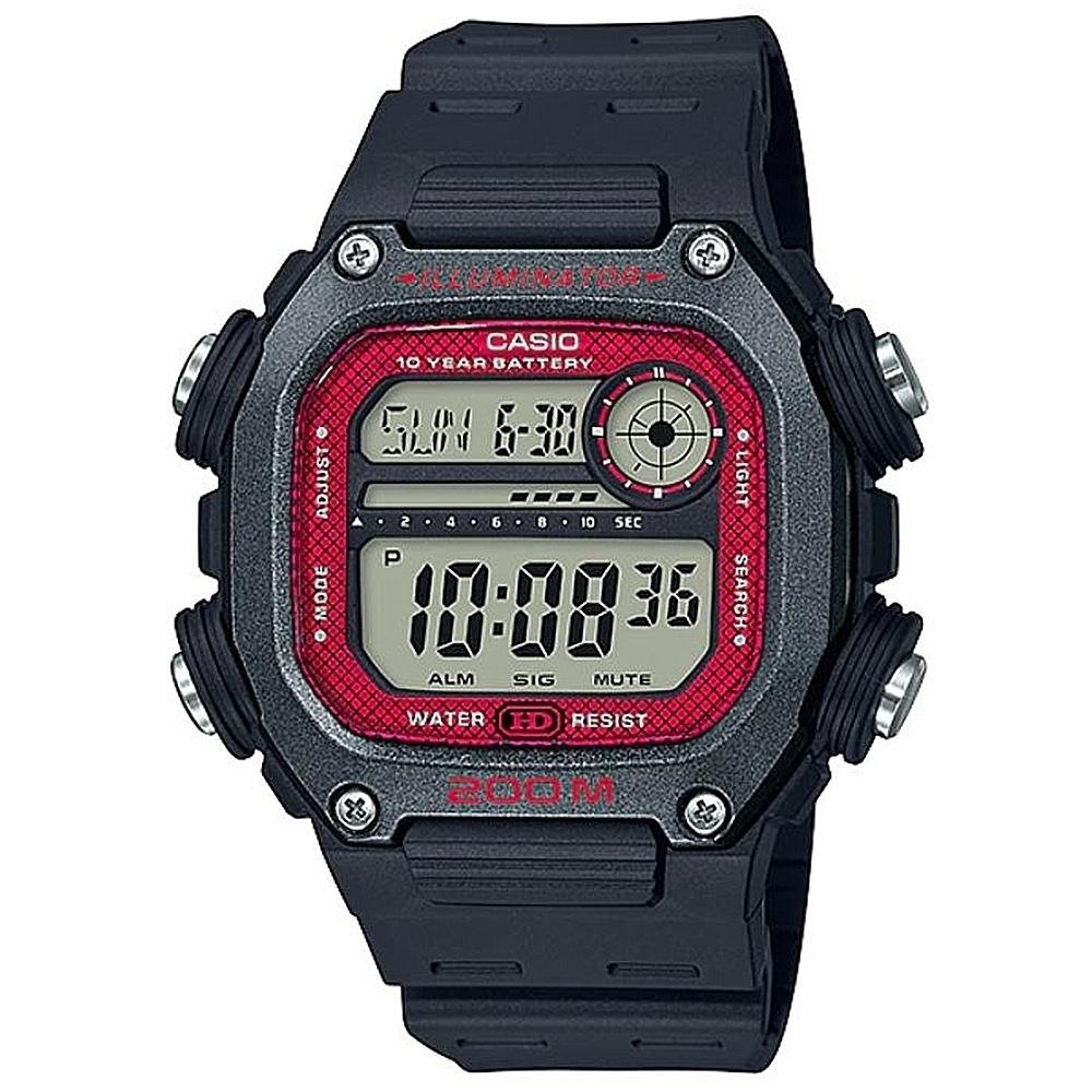 CASIO卡西歐 粗曠運動風格電子錶(DW-291H-1B)