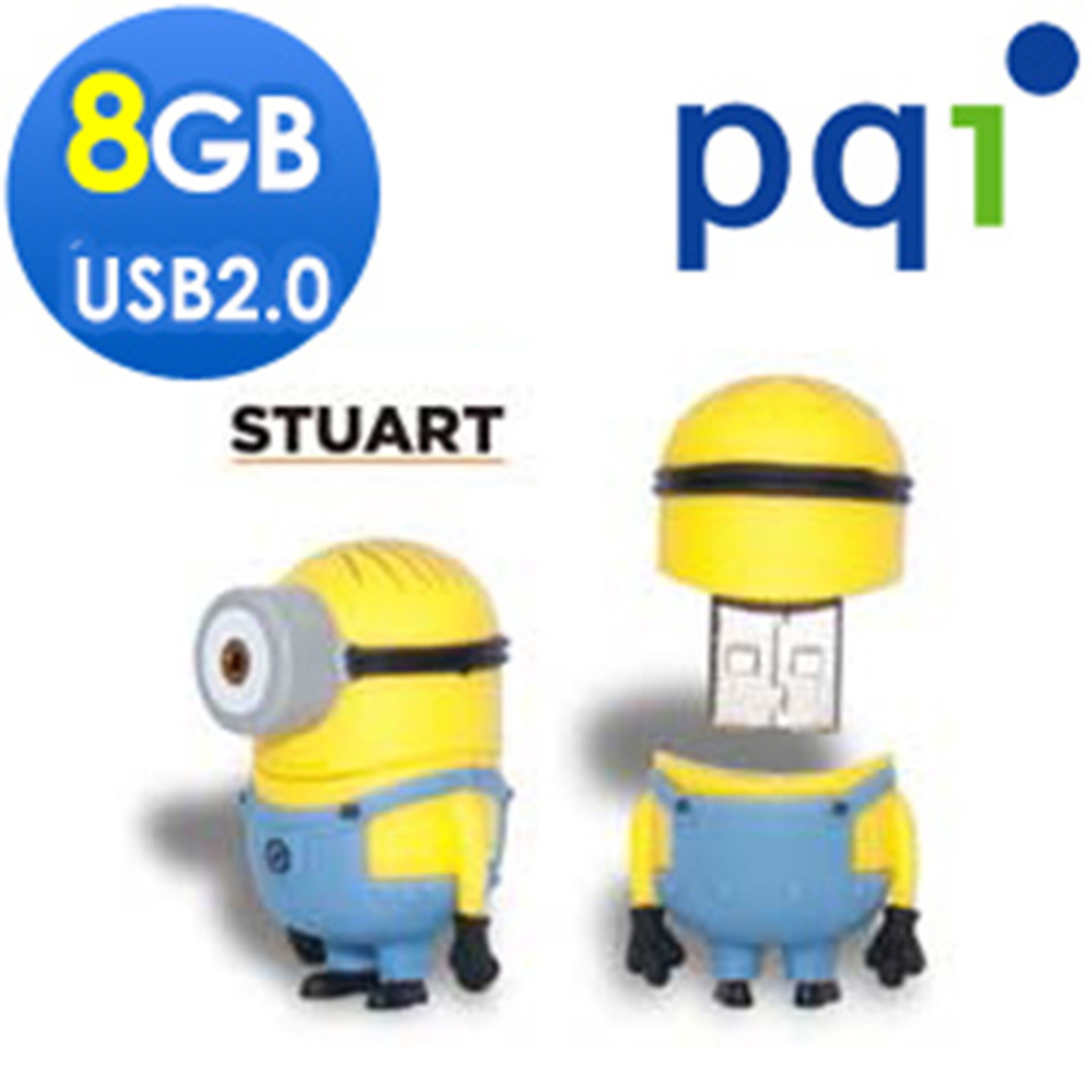 PQI神偷奶爸小小兵Stuart 8G造型隨身碟(福利品包裝盒有損)