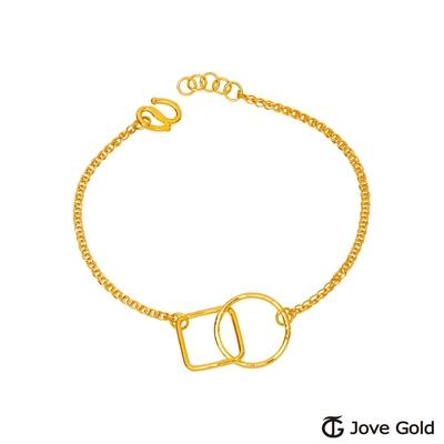 JoveGold漾金飾 方圓之間黃金手鍊