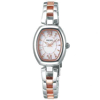 SEIKO精工 VIVACE晶鑽太陽能手錶  SWFA179J-半金/20mm