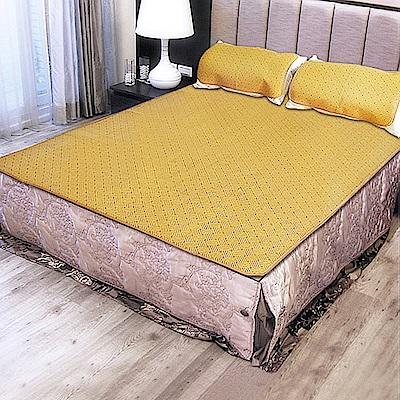 凱蕾絲帝-台灣製造-軟床專用透氣紙纖雙人加大6尺涼蓆三件組(一蓆二枕)