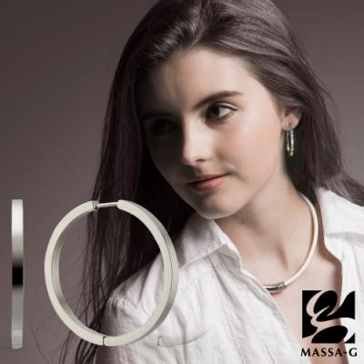 MASSA-G【Walzer華爾滋】純鈦耳環(一對)3.8cm