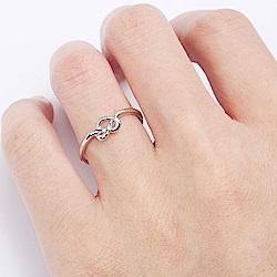 Hera 赫拉 氣質心型結開口戒指