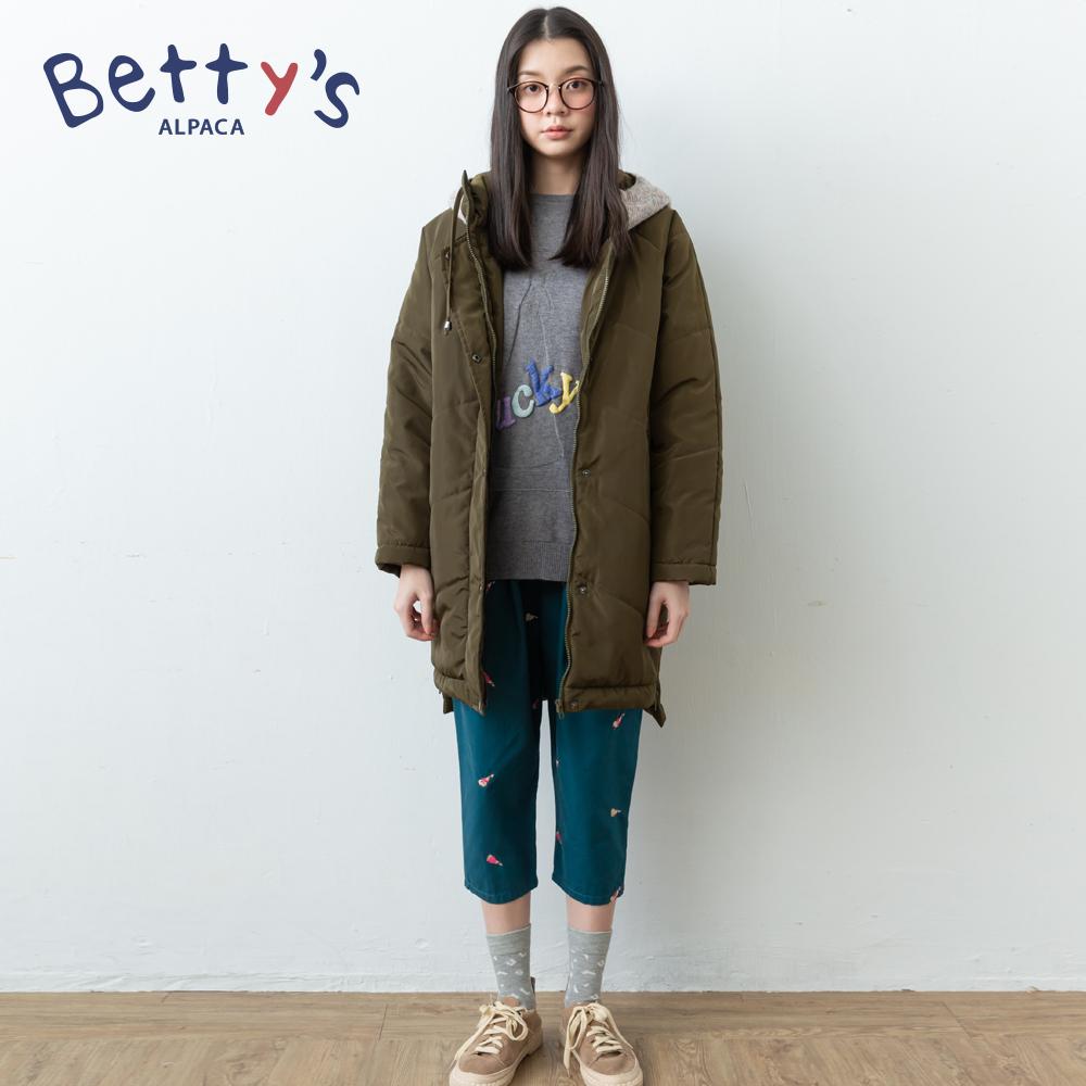 betty's貝蒂思 腰間鬆緊小貝羊刺繡長褲(藍綠) @ Y!購物