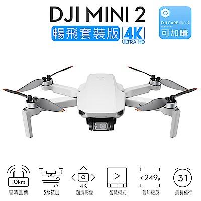 DJI Mini 2 摺疊航拍機 空拍機 暢飛套裝版 4K畫質 (聯強