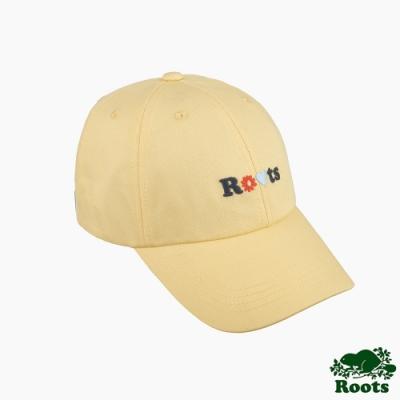 Roots配件-品牌文字刺繡棒球帽-黃色