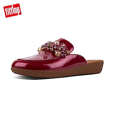 FitFlop SERENE DECO PATENT MULES-火焰紅