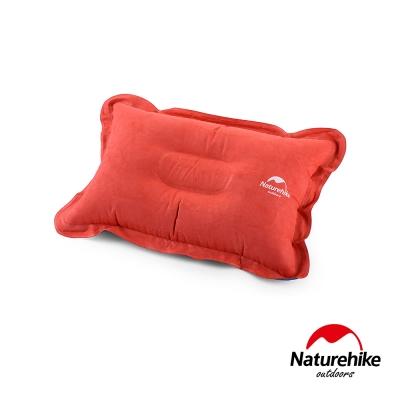 Naturehike 輕量便攜折疊式麂皮絨充氣枕 橙色-急